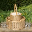 Chilled Wicker Champagne Basket with 12 Flutes