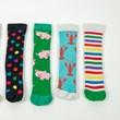 Children's Wellie Boots & Fun Socks Set