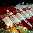 Mr & Mrs Claus Crackers With Racing Reindeer
