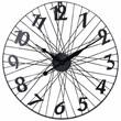 Bicycle Wheel Wall Clock