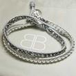 Leather Twist Double Wrap Bracelet