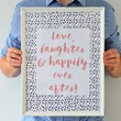 Love, Laughter & Happily Ever After Framed Print
