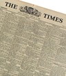 Original Antique Times Newspaper in Leather Folder