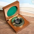 Personalised Brass Traveller's Compass