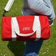 Personalised Canvas Barrel Bag