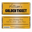 Personalised Golden Ticket Chocolate Bar