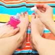 Tweexy Nail Polish Holder & Jingle Nails Glitter Polish Set