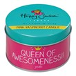 Queen of Awesomeness Pink Raspberry Candle