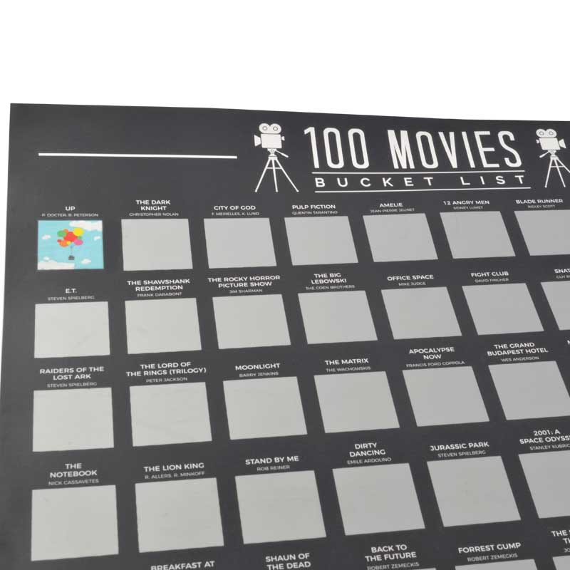 100 Movies Scratch Off Bucket List | The Present Finder
