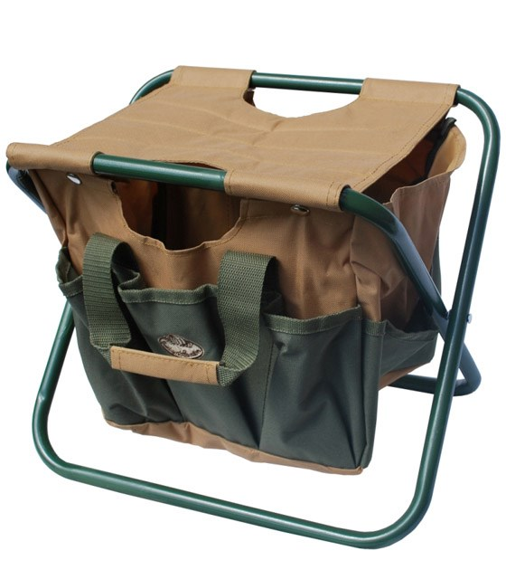 Gardening Stool With Tool Bag The Present Finder