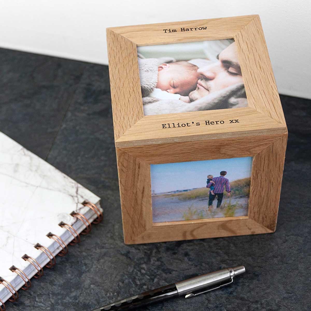 Personalised Oak Photo Keepsake Box | The Present Finder