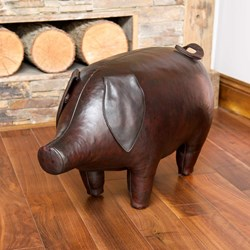 Handmade Leather Pig - Medium | 28 inches long