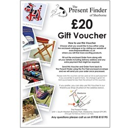 Present Finder Gift Voucher  For the value of £20