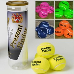 Personalised Tennis Balls- set of 4
