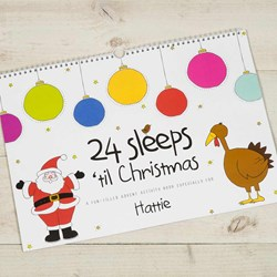 24 Sleeps 'Til Christmas - Personalised book
