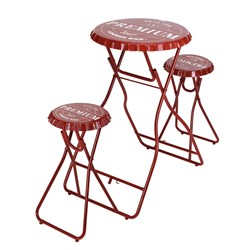 Bar Table with Stools Set