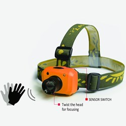 Very Bright Sensor Headlamp with Zoom Lens