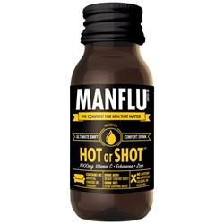 Man Flu Hot or Shot Comfort Drink | It's hard being a man