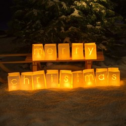 Merry Christmas Candle Lanterns