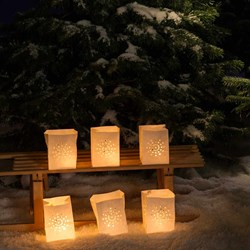 Snowflake Candle Lanterns | Set of 6