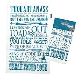 Shakespeare Insults Tea Towel