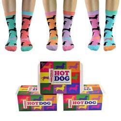 Hotdog Dachshund Odd Socks | 6 Pack