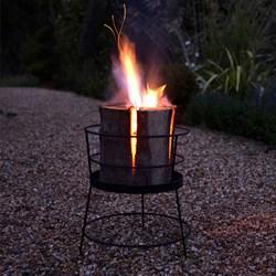 Swedish Torch & Basket Set   the alternative to a Firepit