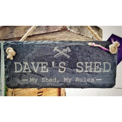 Personalised Slate Shed Sign