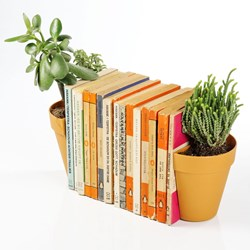 Plant Pot Book Ends