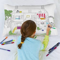 Dolls House Doodle Pillowcase