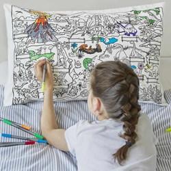 Dinosaur Doodle Pillowcase