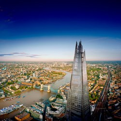 The Shard and Three Course Dining with Prosecco for Two