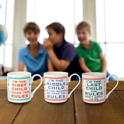 Children Rule Mugs Set of 3