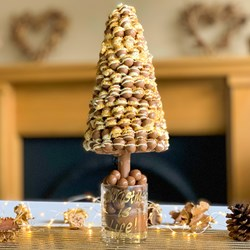 Personalised Maltesers Christmas Tree   With White Chocolate Drizzle