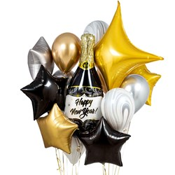 Glitz & Glam New Years Helium Balloon Set