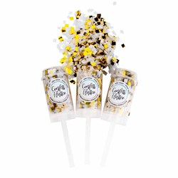 White and Gold Confetti Shooter