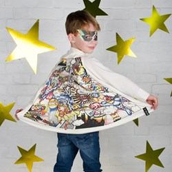 Colour In Super Hero Comic Cape