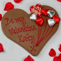 Personalised Valentines Chocolate Heart