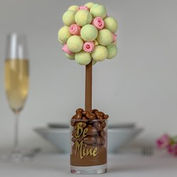 Personalised Valentines Gin & Tonic Truffle with Edible Roses Tree