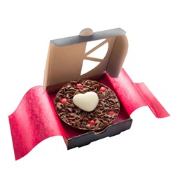 Mini Heart Chocolate Pizza