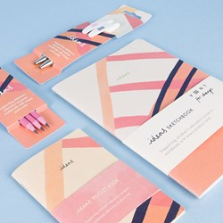 Pink 'ideas' Ethical Stationery Set