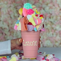 Personalised Strawberry Pink Chocolate Smash Cup