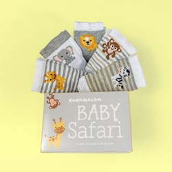 Baby Safari Socks Gift Set