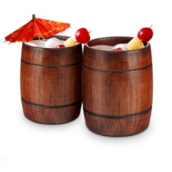 Wooden Barrel Tumblers