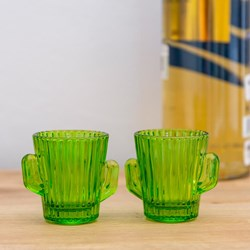 Cactus Shot Glasses: Set of 2