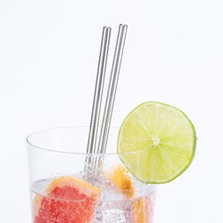 Stainless Steel Reusable Straws: Set of 10
