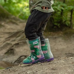 Children's Wellie Boots & Fun Socks Set