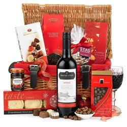 Traditional Wicker Christmas Hamper