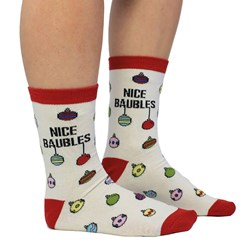 """Nice Baubles"" Socks"