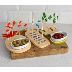 Tapas Sets: Serving Board & Skewers